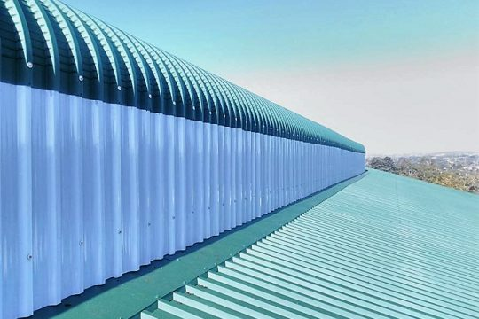 POLYCARBONATE PROFILED ROOF SHEETING